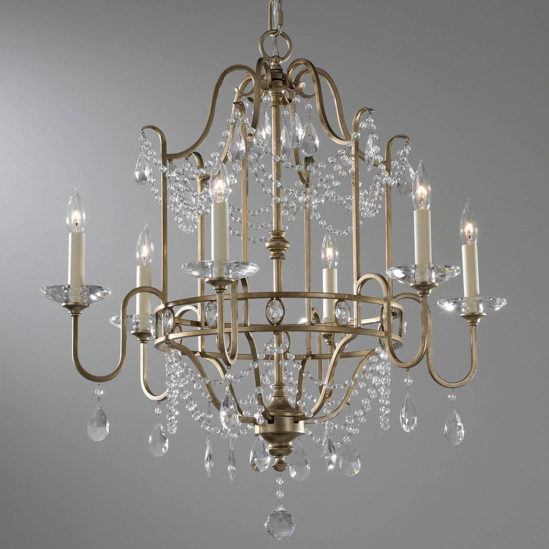 Lampa wisząca 6 płomienna Gianna, Feiss