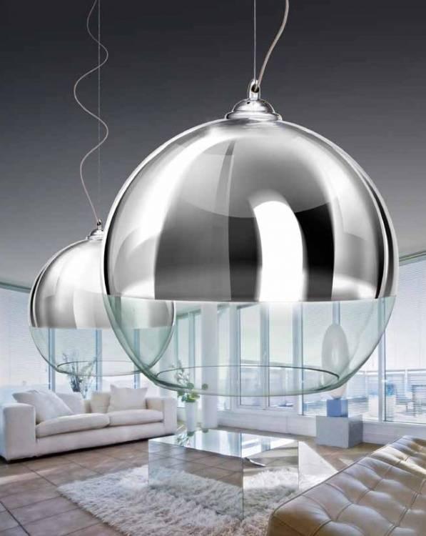 Lampa wisząca Silver Ball, AZzardo