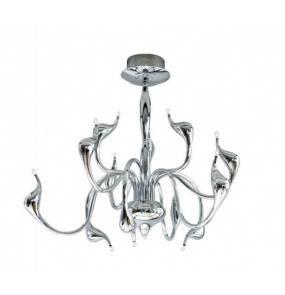 Lampa wisząca Snake MD6230-12 AZzardo dekoracyjna oprawa w kolorze chromu