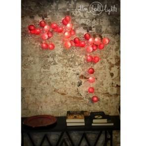 Kolorowe kulki LED kompozycja - Hot Valentines