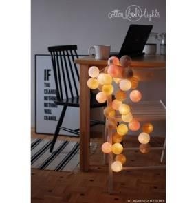 Kolorowe kulki LED kompozycja - Pastels