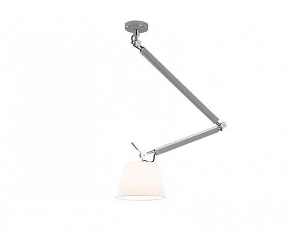 ŻARÓWKA LED GRATIS! Lampa wisząca ZYTA S PENDANT ALU MD2300-S ALU/WH AZzardo