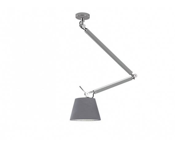 ŻARÓWKA LED GRATIS! Lampa wisząca ZYTA S PENDANT ALU MD2300-S ALU/GR AZzardo
