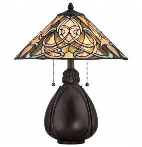 Lampa stołowa India QZ/INDIA/TL oprawa brazowa Quoizel