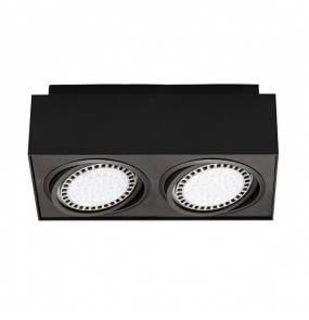 Spot Boxy CL2 20075-BK Zuma Line minimalistyczna oprawa w kolorze czarnym