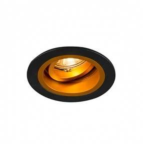 Spot Chuck DL Round 92702 Zuma Line minimalistyczna oprawa w kolorze czarno-złotym
