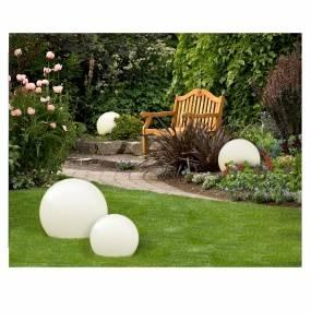 Lampa ogrodowa Gaja 500 LP-JH-1095-500 Light Prestiga zewnętrzna oprawa w kolorze białym