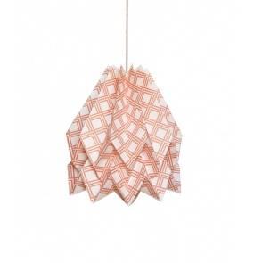 Lampa wisząca Kayapó Terracota Orikomi dekoracyjna oprawa w kolorze różowym