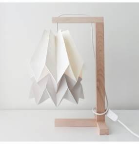 Lampa stołowa Table Polar White/Light Grey Orikomi biało-szara oprawa w minimalistycznym stylu