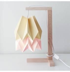 Lampa stołowa Table Pale Yellow/Pastel Pink Orikomi żółto-różowa oprawa w minimalistycznym stylu