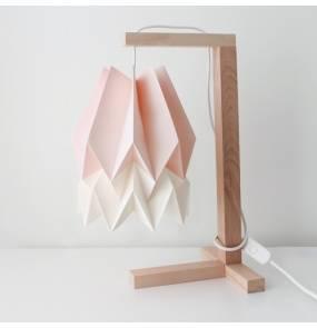 Lampa stołowa Table Pastel Pink/Polar White Orikomi różowo-biała oprawa w minimalistycznym stylu