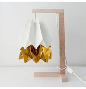 Lampa stołowa Table Polar White/Warm Gold Orikomi biało-złota oprawa w minimalistycznym stylu
