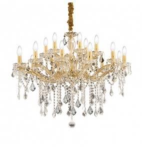 Lampa wisząca Florian SP18  Ideal Lux oprawa w kryształowym stylu