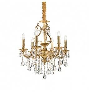 Lampa wisząca Gioconda SP6 060507 Ideal Lux klasyczna oprawa w kolorze złotym