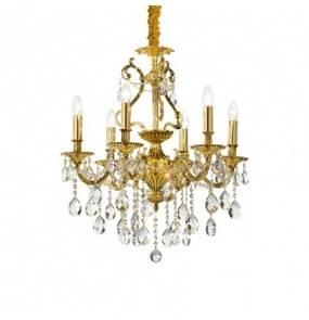 Lampa wisząca Gioconda SP8 060514 Ideal Lux klasyczna oprawa w kolorze złotym
