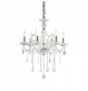 Lampa wisząca Giudecca SP6 027821 Ideal Lux transparentna oprawa w kryształowym stylu