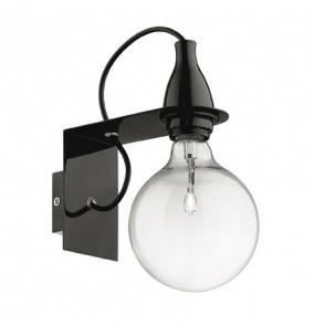 Kinkiet Minimal AP1 045214 Ideal Lux minimalistyczna oprawa w kolorze czarnym