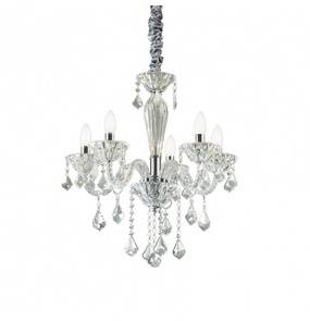Lampa wisząca Tiepolo SP5 034713 Ideal Lux transparentna oprawa w kryształowym stylu