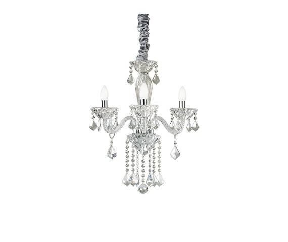 Lampa wisząca Tiepolo SP3 034706 Ideal Lux transparentna oprawa w kryształowym stylu