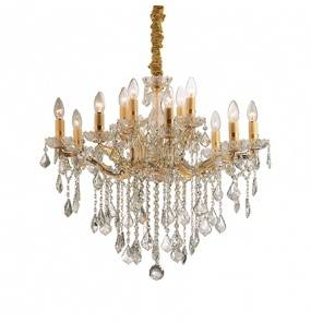 Lampa wisząca Florian SP12 Ideal Lux oprawa w stylu kryształowym