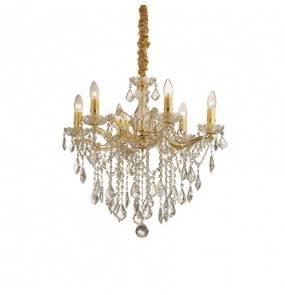 Lampa wisząca Florian SP6 Ideal Lux oprawa w stylu kryształowym