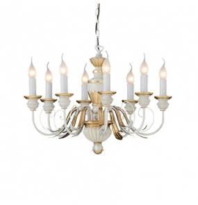 Lampa wisząca Firenze SP8 012872 Ideal Lux klasyczna oprawa w kolorze białym