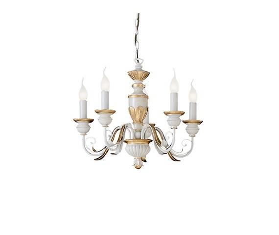 Lampa wisząca Firenze SP5 012865 Ideal Lux klasyczna oprawa w kolorze białym