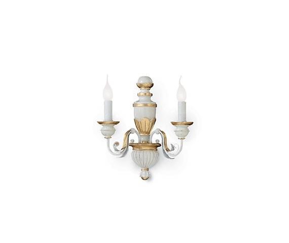 Kinkiet Firenze AP2 012902 Ideal Lux klasyczna oprawa w kolorze białym