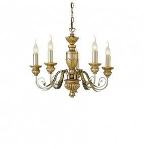 Lampa wisząca Firenze SP5 020822 Ideal Lux klasyczna oprawa w kolorze antycznego złota