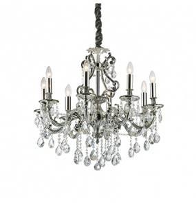 Lampa wisząca Gioconda SP8 044934 Ideal Lux klasyczna oprawa w kolorze srebrnym