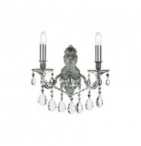 Kinkiet Gioconda AP2 044910 Ideal Lux klasyczna oprawa w kolorze srebrnym