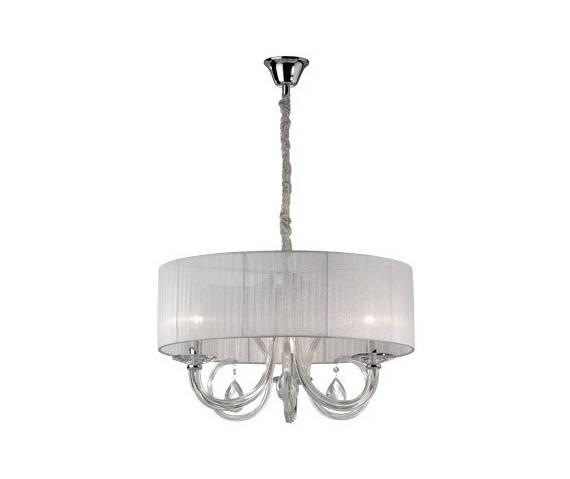 Lampa wisząca Swan SP3 035840 Ideal Lux biała oprawa w klasycznym stylu