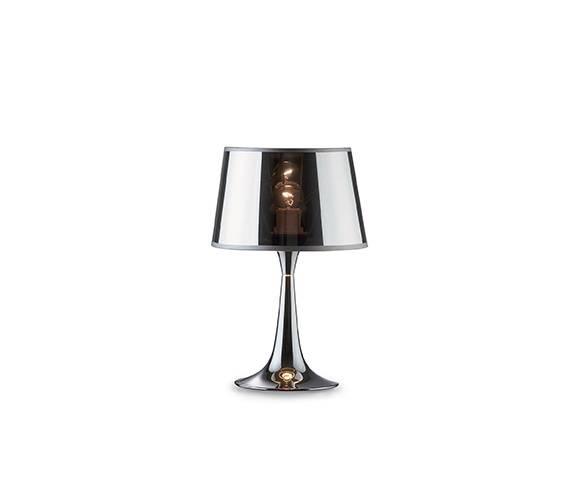 Lampa stołowa London TL1 Small 032368 Ideal Lux nowoczesna oprawa w kolorze chromu