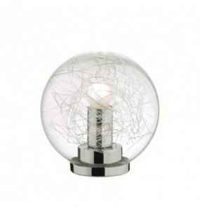 Lampa stołowa Mapa Max TL1 D20 045139 Ideal Lux nowoczesna oprawa w kolorze aluminium