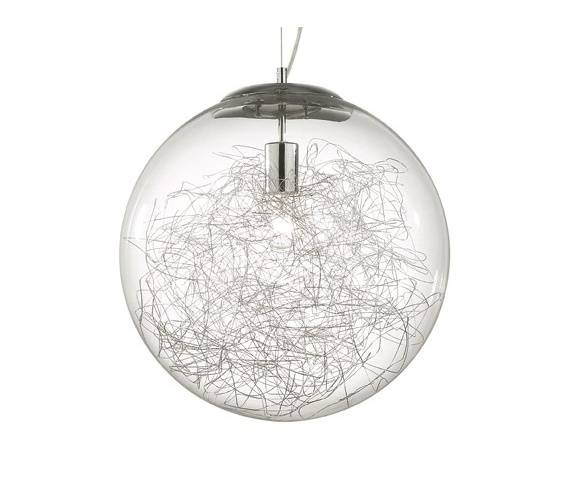 Lampa wisząca Mapa Max SP1 D40 045122 Ideal Lux nowoczesna oprawa w kolorze aluminium