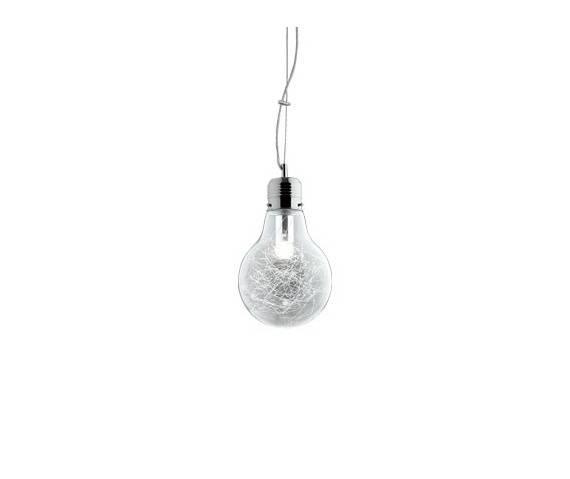 Lampa wisząca Luce Max SP1 Small 033679 Ideal Lux nowoczesna oprawa w kolorze aluminium