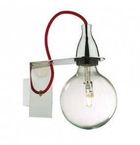 Kinkiet Minimal Cromo AP1 045207 Ideal Lux minimalistyczna oprawa w kolorze chromu