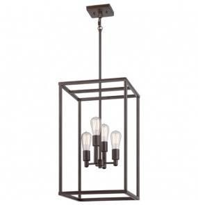 Lampa wisząca New Harbor QZ/NEWHARBOR/4P Quoizel poczwórna oprawa w nowoczesnym stylu