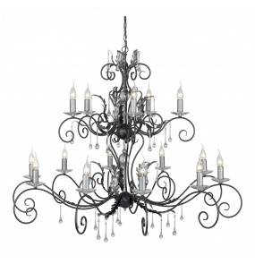 Żyrandol Amarilli AML15 BLK/SIL Elstead Lighting czarno-srebrna oprawa w klasycznym stylu