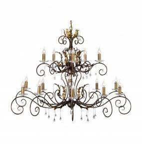 Żyrandol Amarilli AML15 BR/GLD Elstead Lighting brązowo-złota oprawa w klasycznym stylu