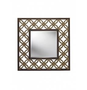 Lustro Remy FE/REMY MIRROR Feiss dekoracyjne lustro w kolorze złotym