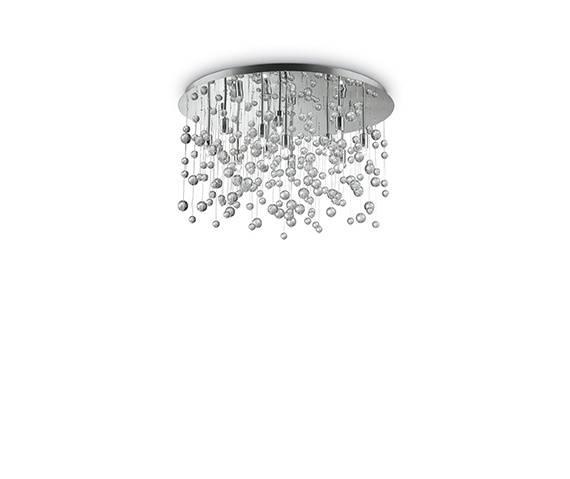 Plafon Neve PL12  Ideal Lux kryształowa oprawa w nowoczesnym stylu