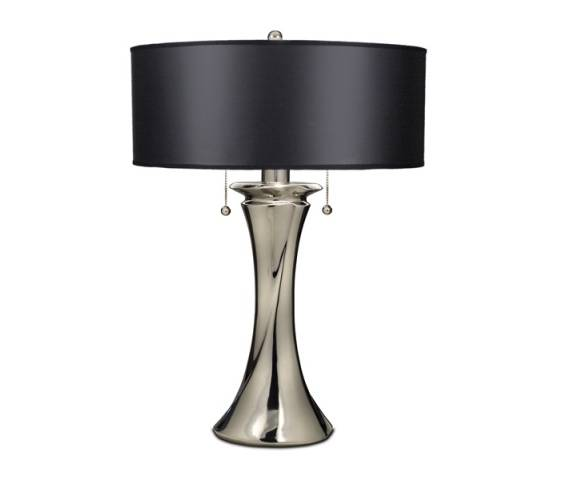 Lampa stołowa Manhattan SF/MANHATTAN Stiffel czarno-niklowana oprawa w dekoracyjnym stylu