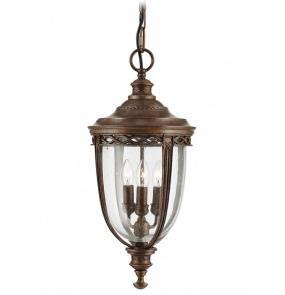 Lampa wisząca zewnętrzna English Bridle FE/EB8/M BRB Feiss klasyczna oprawa w kolorze brązowym