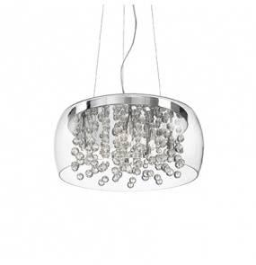 Lampa wisząca Audi-80 SP8 031750 Ideal Lux transparentna oprawa w nowoczesnym stylu