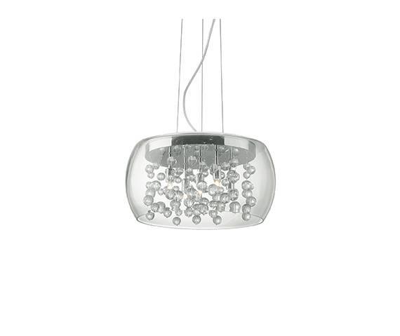 Lampa wisząca Audi-80 SP5 031743 Ideal Lux transparentna oprawa w nowoczesnym stylu