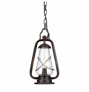 Lampa wisząca zewnętrzna Miners CHAIN Elstead Lighting dekoracyjna oprawa w kolorze antycznego brązu