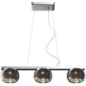 Lampa wisząca Crystal P0076-03S Zuma Line potrójna kryształowa oprawa w stylu nowoczesnym