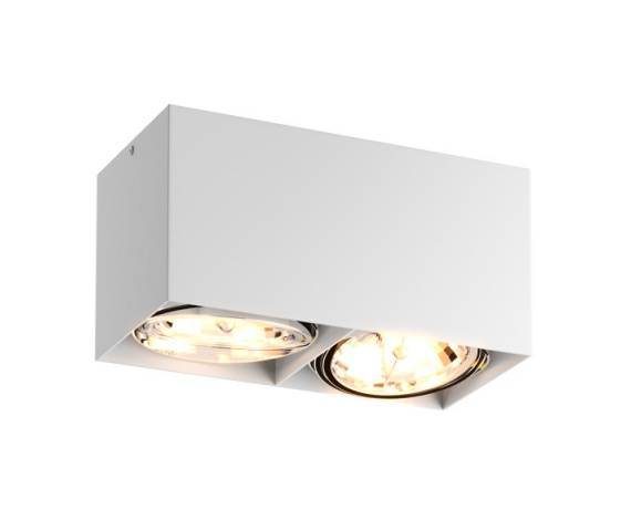 Oprawa sufitowa spot Box SL2 89949 Zuma Line podwójny reflektor w kolorze białym