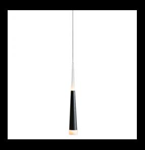 Lampa wisząca Brina 1 LED LP9003-1 BK Azzardo czarna oprawa w stylu design